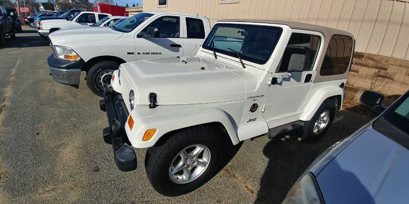 2000 Jeep Wrangler for sale at Randys Auto Sales in Gardner MA