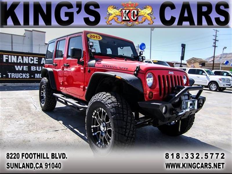 2013 Jeep Wrangler Unlimited In Sunland CA - KINGS CARS INC