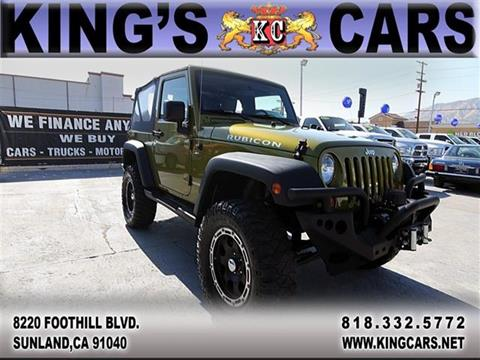 2008 Jeep Wrangler for sale at KINGS CARS INC in Sunland CA