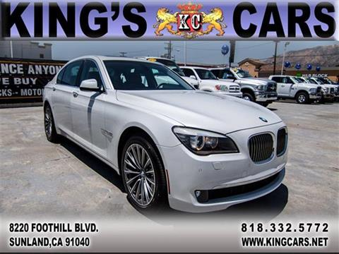 2011 BMW 7 Series for sale at KINGS CARS INC in Sunland CA