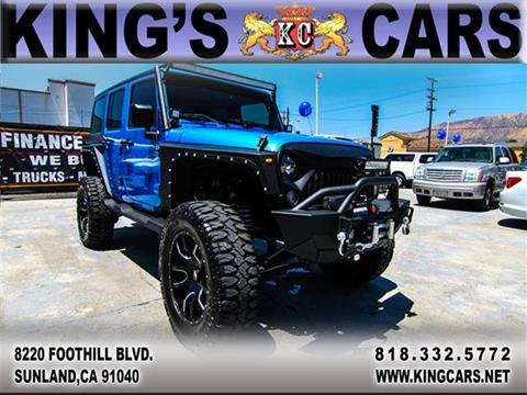 2015 Jeep Wrangler Unlimited for sale at KINGS CARS INC in Sunland CA