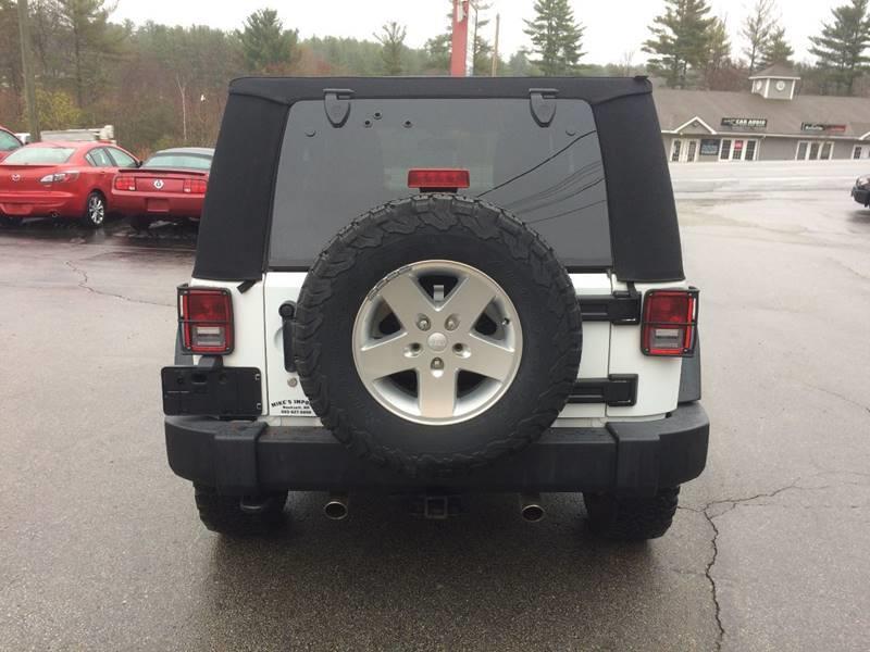 2012 Jeep Wrangler 4x4 Sport 2dr SUV - Hooksett NH