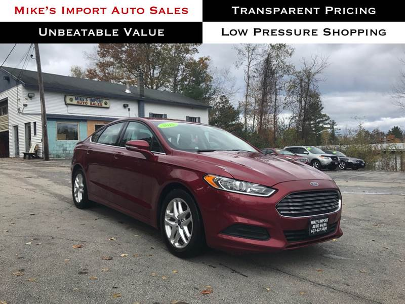 Import Auto Sales >> 2015 Ford Fusion Se In Hooksett Nh Mikes Import Auto Sales Inc