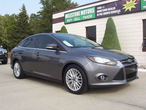 2013 Ford Focus for sale at MILESTONE MOTORS in Chesterfield MI