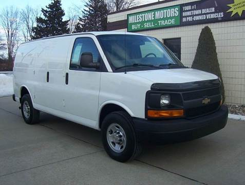2014 Chevrolet Express Cargo for sale at MILESTONE MOTORS in Chesterfield MI