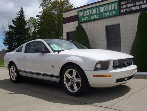 2009 Ford Mustang for sale at MILESTONE MOTORS in Chesterfield MI