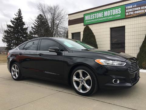 2013 Ford Fusion for sale at MILESTONE MOTORS in Chesterfield MI