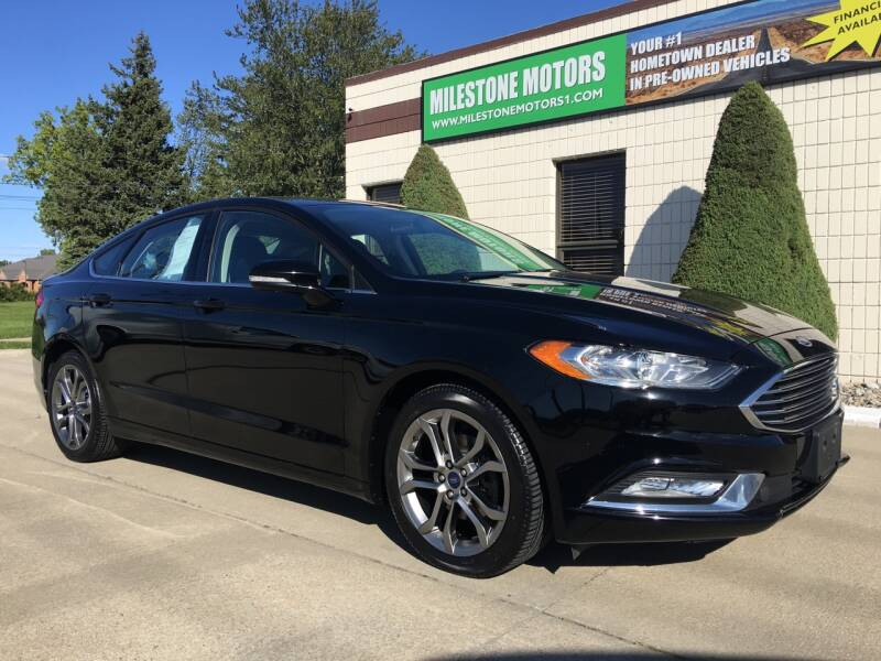 2017 Ford Fusion for sale at MILESTONE MOTORS in Chesterfield MI