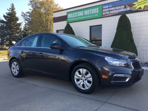 2015 Chevrolet Cruze for sale at MILESTONE MOTORS in Chesterfield MI