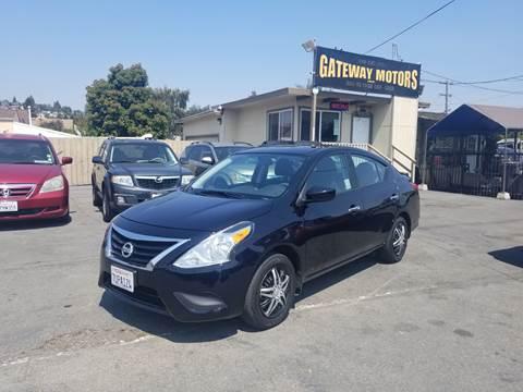 2016 Nissan Versa for sale at Gateway Motors in Hayward CA