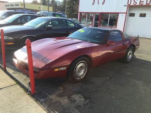 1987 Chevrolet Corvette for sale at J & J Used Cars inc in Wayne MI