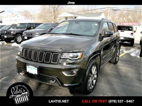 2016 Jeep Grand Cherokee for sale at Lahti's Jeep - Used in Leominster MA