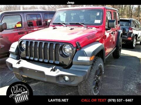 2020 Jeep Wrangler Unlimited Willys for sale at Lahti's Jeep - Used in Leominster MA