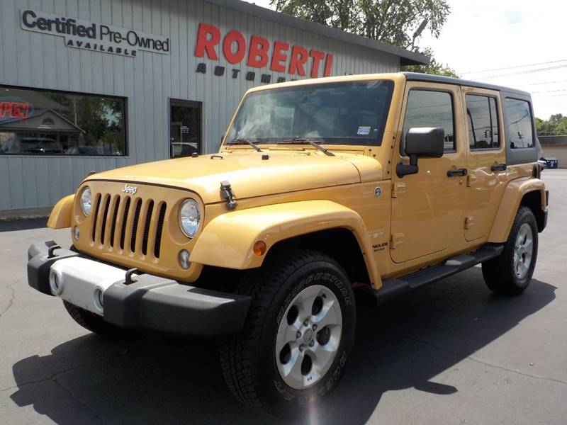 2014 Jeep Wrangler Unlimited For Sale At Roberti Automotive In Kingston NY