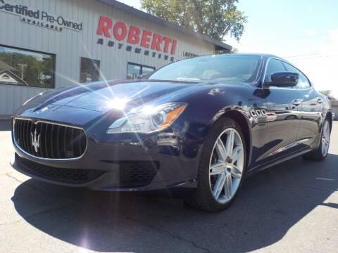 2014 Maserati Quattroporte for sale at Roberti Automotive in Kingston NY