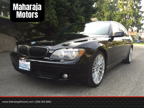 2006 BMW 7 Series for sale at Maharaja Motors in Seattle WA