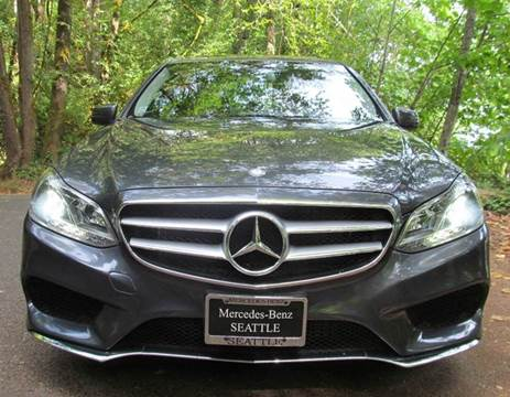 2014 Mercedes-Benz E-Class for sale at Maharaja Motors in Seattle WA