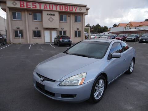 2004 Honda Accord EX V-6 for sale at Best Auto Buy in Las Vegas NV