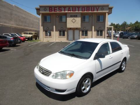 2003 Toyota Corolla for sale at Best Auto Buy in Las Vegas NV
