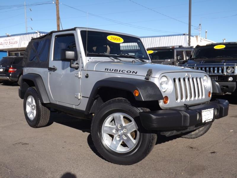 2008 Jeep Wrangler 4x4 Rubicon 2dr SUV w/Side Airbag Package - Denver CO