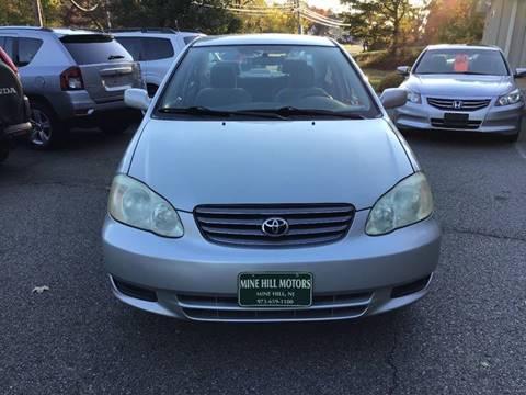 2003 Toyota Corolla for sale in Mine Hill, NJ