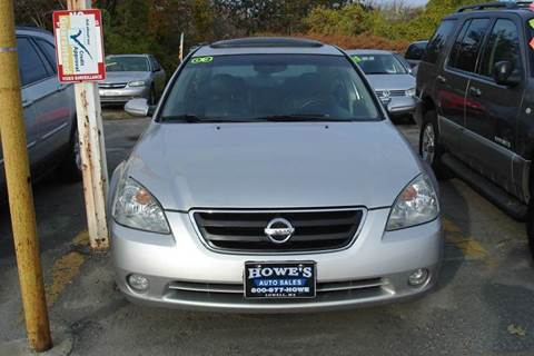 2002 Nissan Altima for sale at Howe's Auto Sales in Lowell MA
