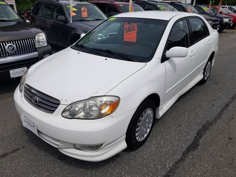 2004 Toyota Corolla for sale at Howe's Auto Sales in Lowell MA