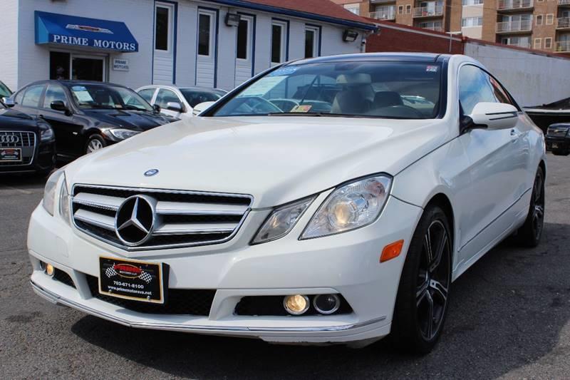 2010 Mercedes-Benz E-Class for sale at PRIME MOTORS LLC in Arlington VA