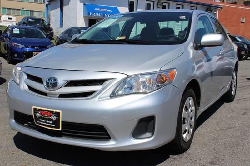 2013 Toyota Corolla for sale at PRIME MOTORS LLC in Arlington VA