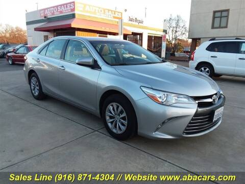 2015 Toyota Camry LE for sale at About New Auto Sales in Lincoln CA