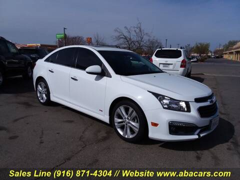 2015 Chevrolet Cruze LTZ Auto for sale at About New Auto Sales in Lincoln CA