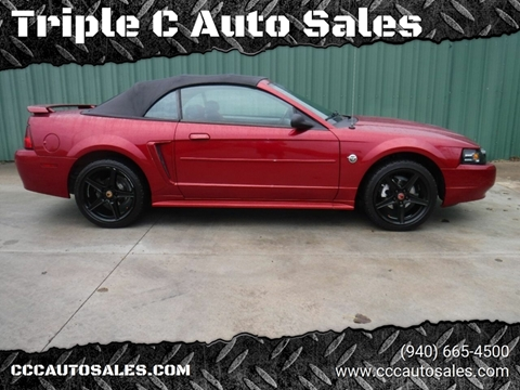 Triple C Auto Sales >> 2004 Ford Mustang For Sale In Gainesville Tx