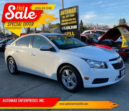 2012 Chevrolet Cruze for sale at AUTOMAX ENTERPRISES INC. in Roseville CA
