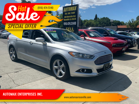 2014 Ford Fusion for sale at AUTOMAX ENTERPRISES INC. in Roseville CA