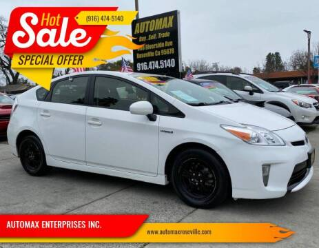 2015 Toyota Prius for sale at AUTOMAX ENTERPRISES INC. in Roseville CA