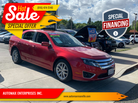 2012 Ford Fusion for sale at AUTOMAX ENTERPRISES INC. in Roseville CA