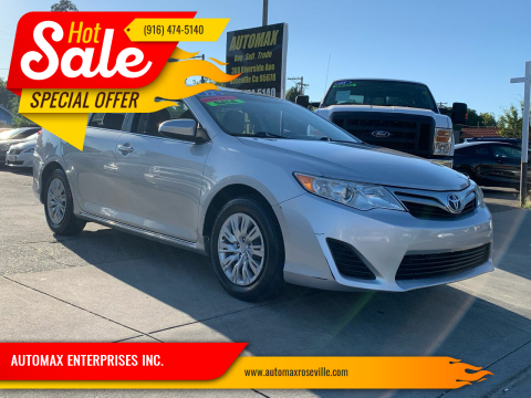 2012 Toyota Camry for sale at AUTOMAX ENTERPRISES INC. in Roseville CA