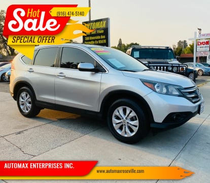 2014 Honda CR-V for sale at AUTOMAX ENTERPRISES INC. in Roseville CA