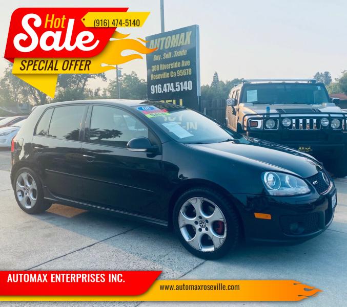 2008 Volkswagen GTI for sale at AUTOMAX ENTERPRISES INC. in Roseville CA