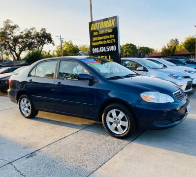 2005 Toyota Corolla for sale at AUTOMAX ENTERPRISES INC. in Roseville CA