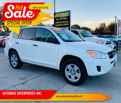 2011 Toyota RAV4 for sale at AUTOMAX ENTERPRISES INC. in Roseville CA