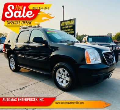 2009 GMC Yukon for sale at AUTOMAX ENTERPRISES INC. in Roseville CA