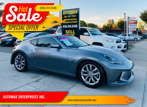 2013 Nissan 370Z for sale at AUTOMAX ENTERPRISES INC. in Roseville CA