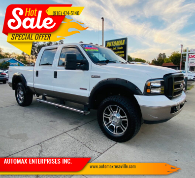 2007 Ford F-250 Super Duty for sale at AUTOMAX ENTERPRISES INC. in Roseville CA