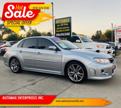 2013 Subaru Impreza for sale at AUTOMAX ENTERPRISES INC. in Roseville CA