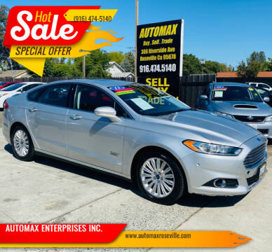 2013 Ford Fusion Energi for sale at AUTOMAX ENTERPRISES INC. in Roseville CA