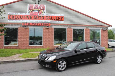 2010 Mercedes-Benz E-Class E 350 Luxury 4MATIC for sale at EXECUTIVE AUTO GALLERY INC in Walnutport PA