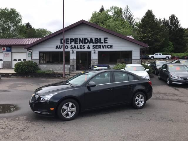 2014 Chevrolet Cruze for sale at Dependable Auto Sales and Service in Binghamton NY