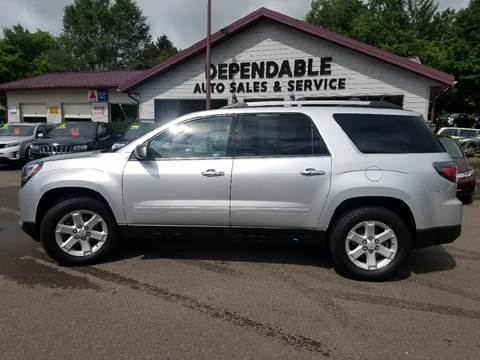 2015 GMC Acadia for sale at Dependable Auto Sales and Service in Binghamton NY