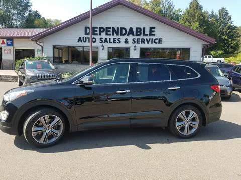 2013 Hyundai Santa Fe for sale at Dependable Auto Sales and Service in Binghamton NY